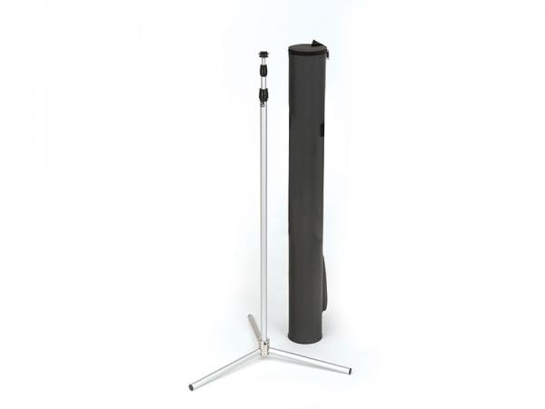 SPRINT Telescopic Banner Stand - Shown with Black Carry Case - Black Carry Case Contains a Durable Cardboard