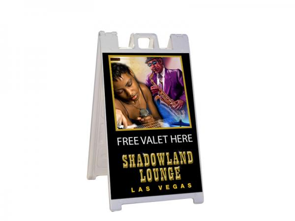 Valet - Outdoor a-frame with double sided direct print graphic