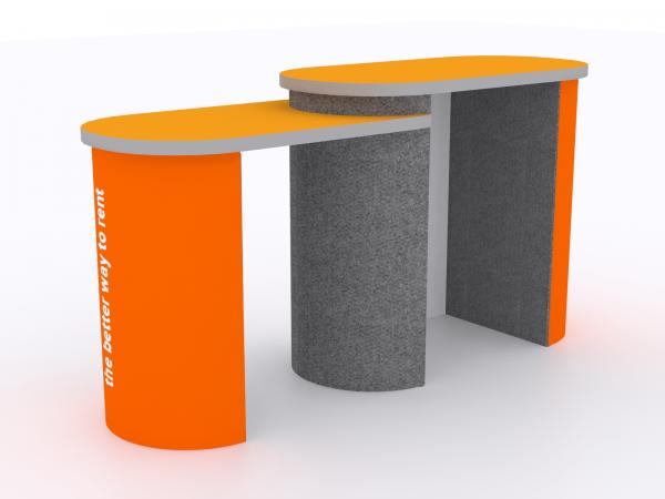 DI-672 Trade Show Pedestal -- Folding Fabric Panels -- Large Graphics (velcro-attached)
