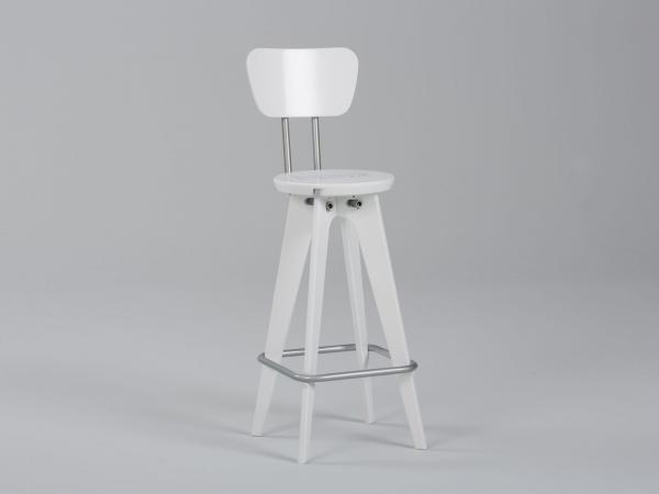 OTM Portable Chair with Seatback -- White