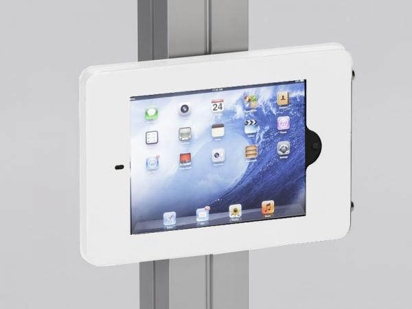 MOD-1318 Swivel iPad Clamshell Frame for Extrusion -- White
