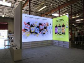 (3) Custom SuperNova LED Lightboxes with Fabric Graphics on Storage Support Stands