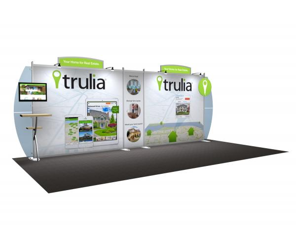 VK-2109 Portable Hybrid Trade Show Exhibit -- Convex Wings