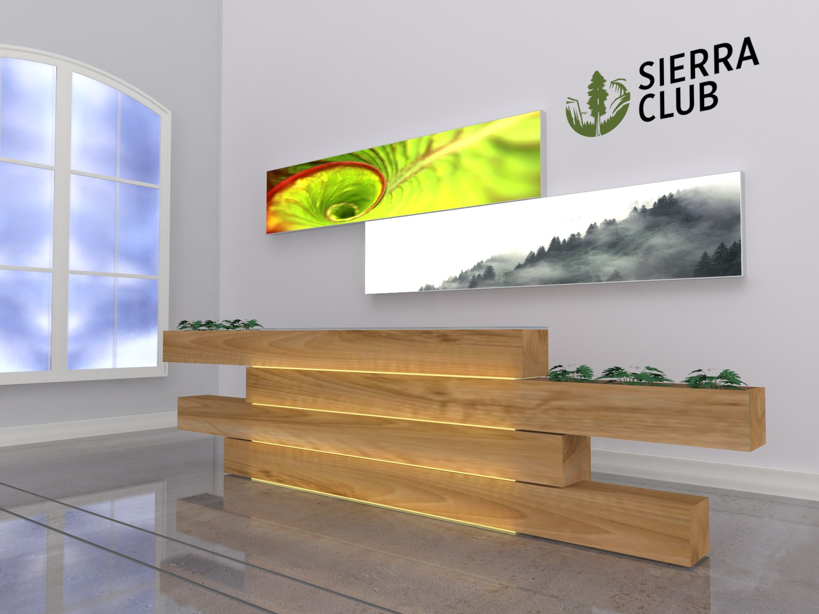SuperNova Custom Lightboxes -- Lobby Example