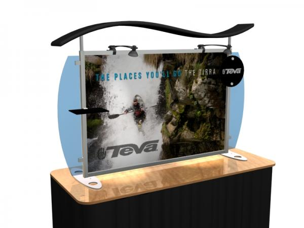 VK-1292 Portable Hybrid Trade Show Table Top Exhibit -- Image 4